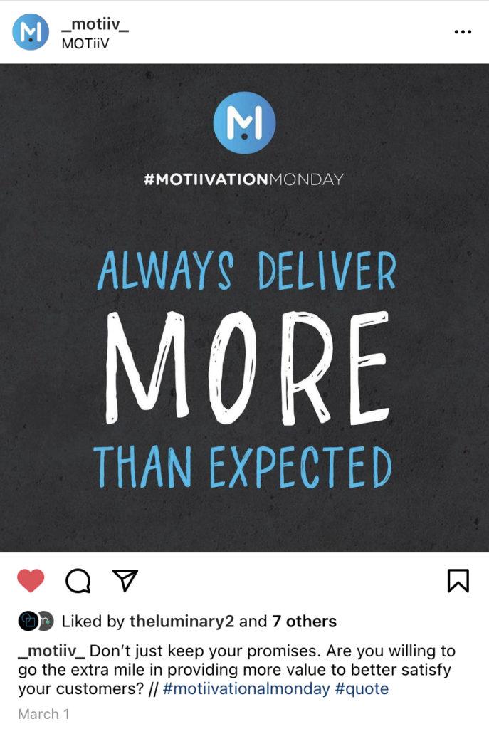 marketing instagram post example
