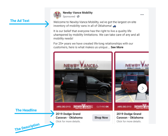 Facebook Ad Layout