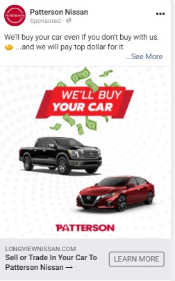 automotive facebook ad 1
