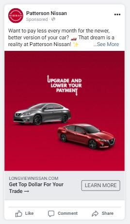 automotive facebook ad