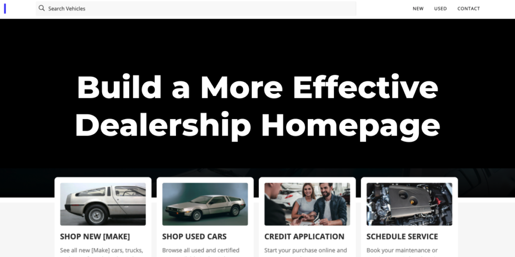 Build a more effective dealership homepage